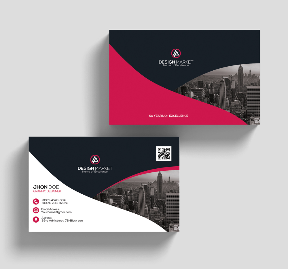 Horizontal Business Cards example image 3