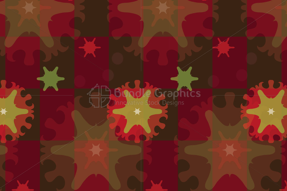 Snow Flakes - Creative Seamless Colorful Background example image 3