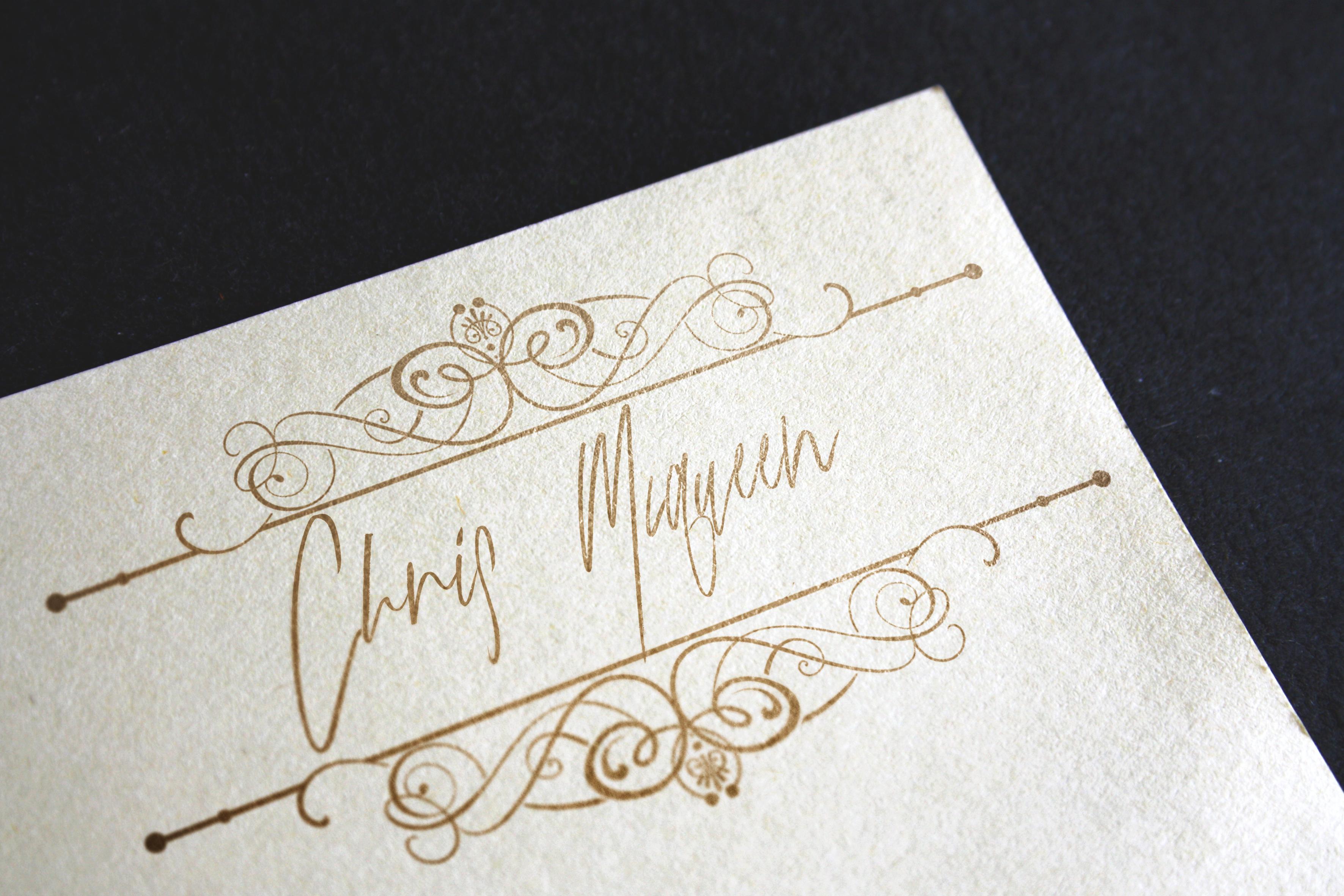 Gold Mastey Artictic Brush Font example image 6