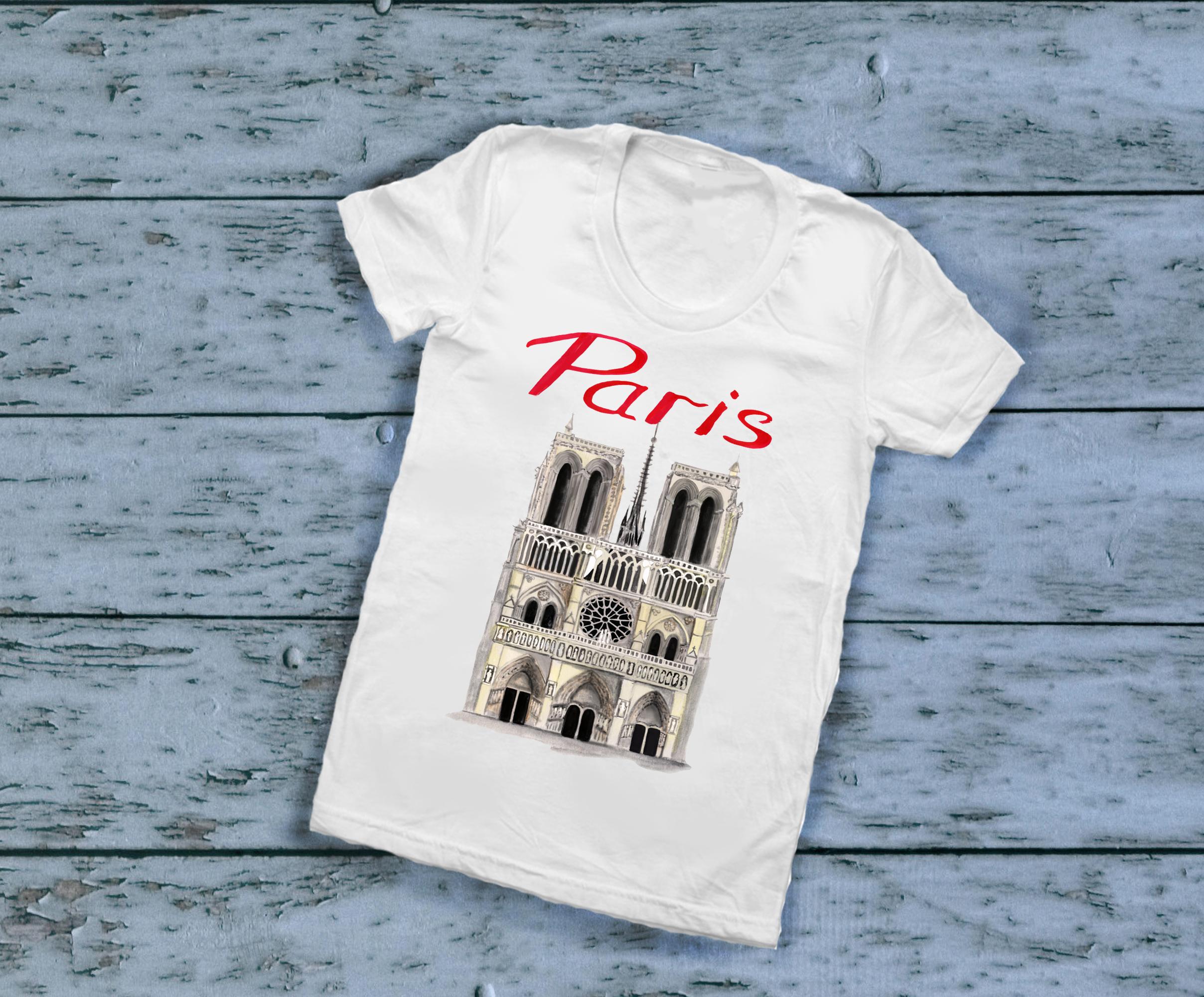 Paris clipart, Notre Dame, scooter clipart, eiffel tower example image 3