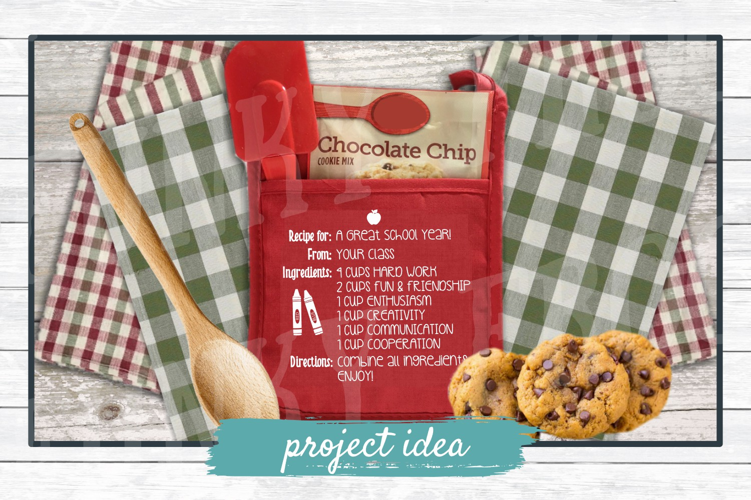 Recipe for A Great School Year - Teacher SVG Cut File example image 2