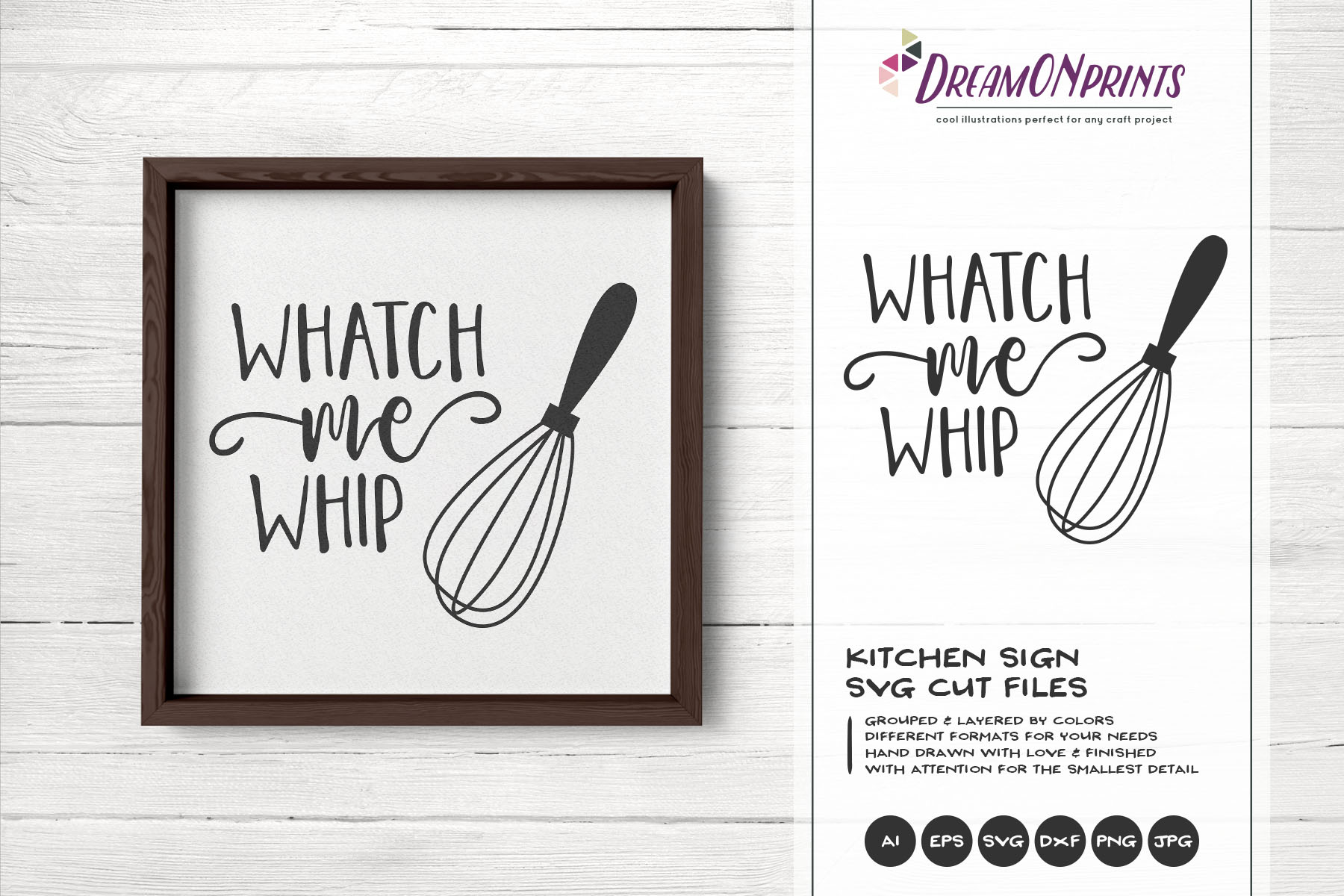 Watch Me Whip SVG - Kitchen SVG example image 1