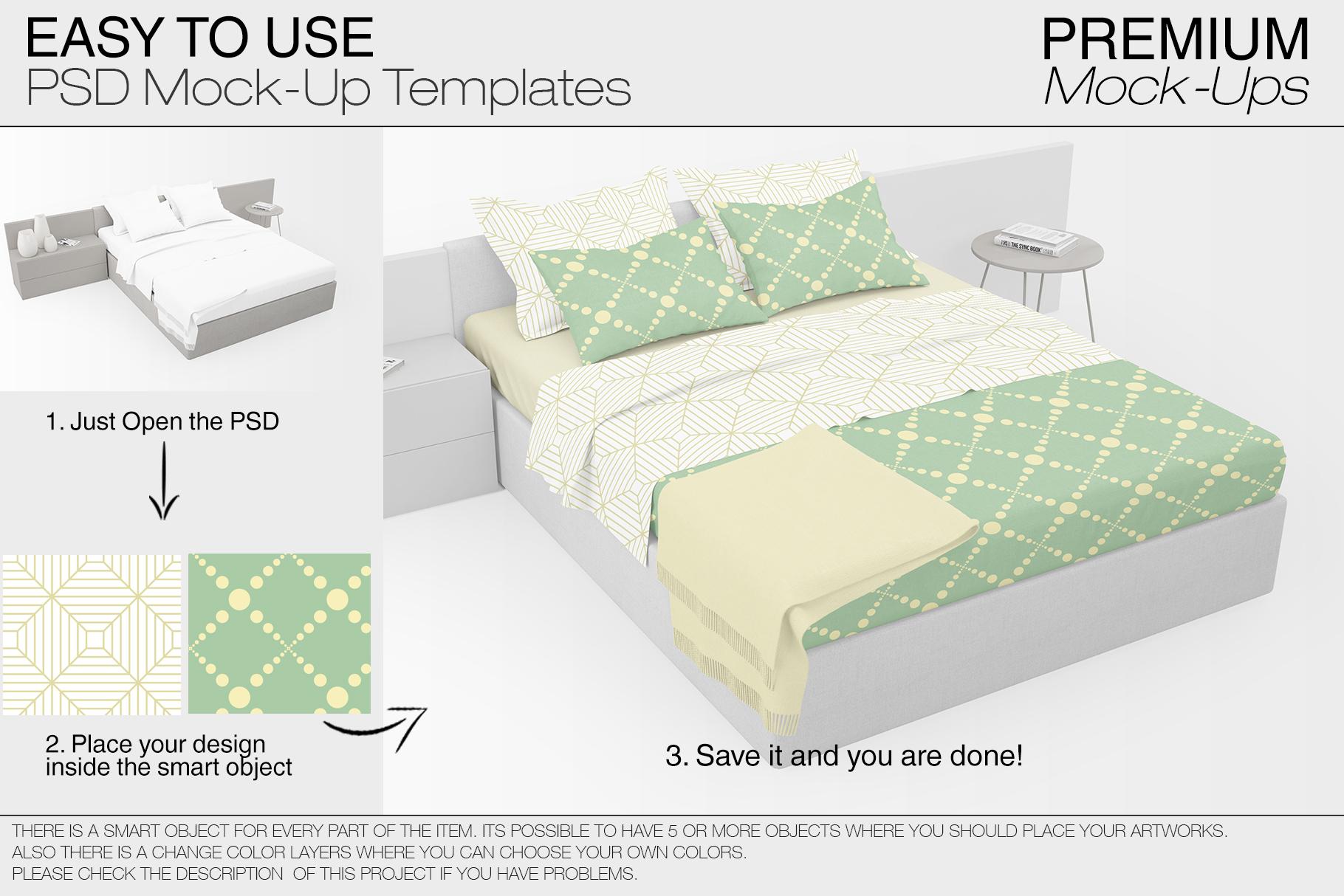Bedding Mockup Set example image 2