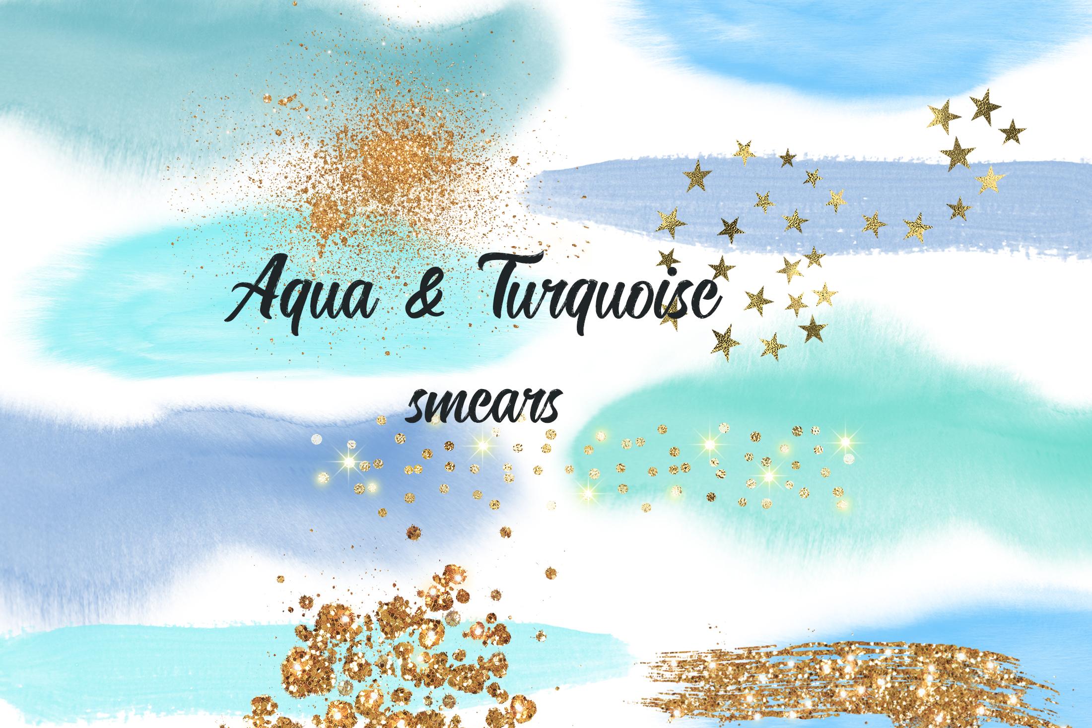 Aqua&Turquoise smears example image 1