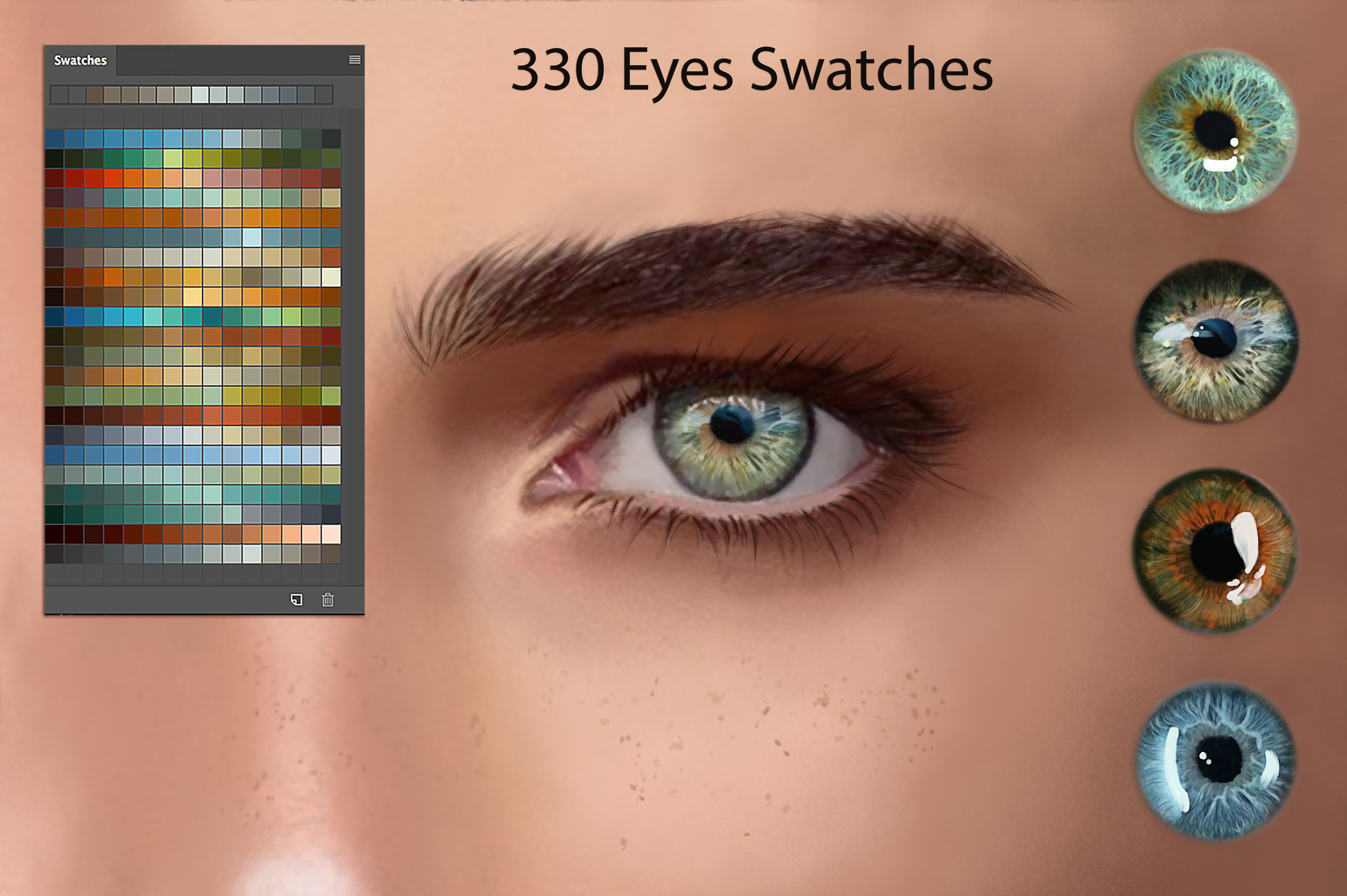 Eyes Ps Swatches for Digital Painting example image 1