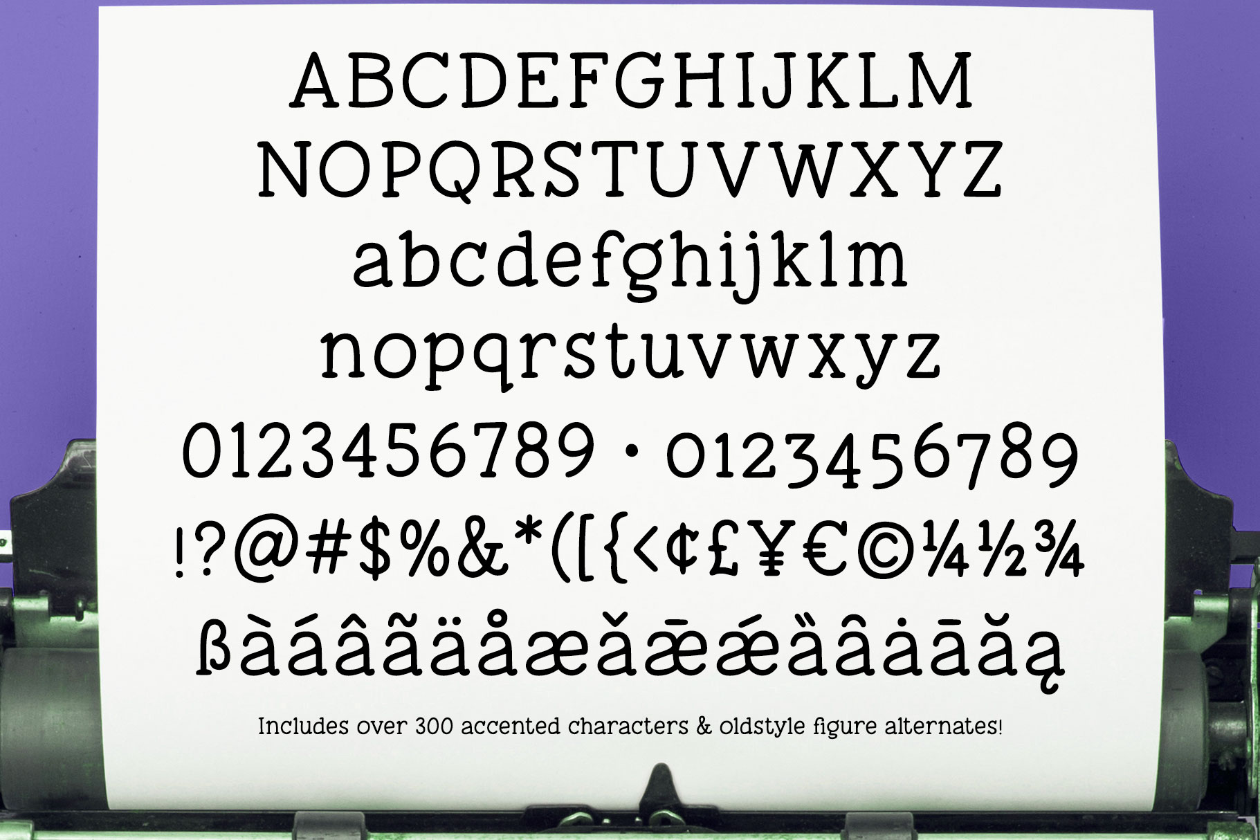 Tippy Tappy Type - a hand-made typewriter-ish font! example image 2