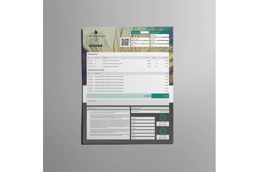 Invoice Template US Letter 4 Biz example image 4
