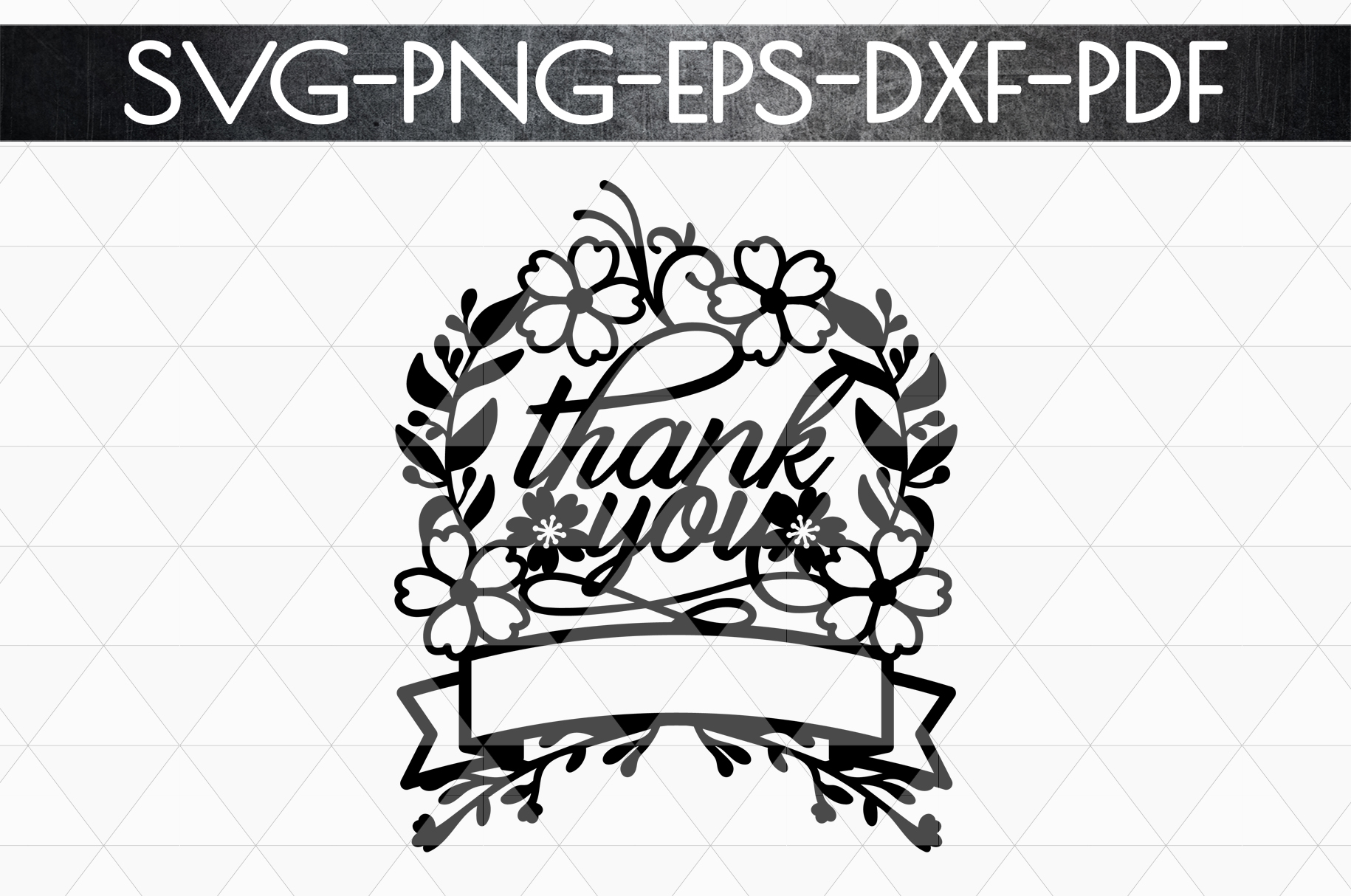 Thank You 8 Papercut Template, Customizable, SVG, PDF, DXF example image 4