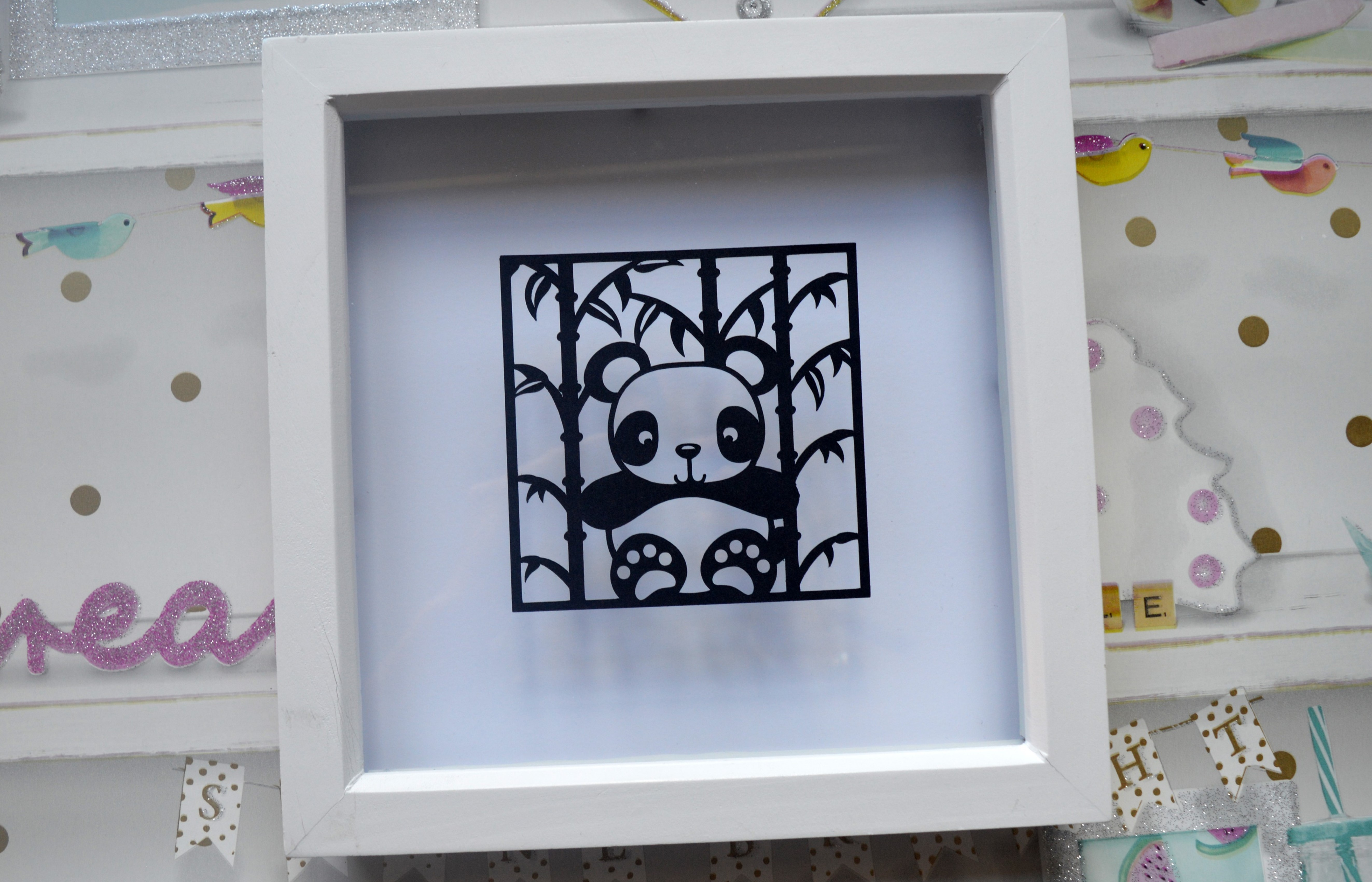 3 Panda Paper Cut SVG / DXF / EPS Files example image 2