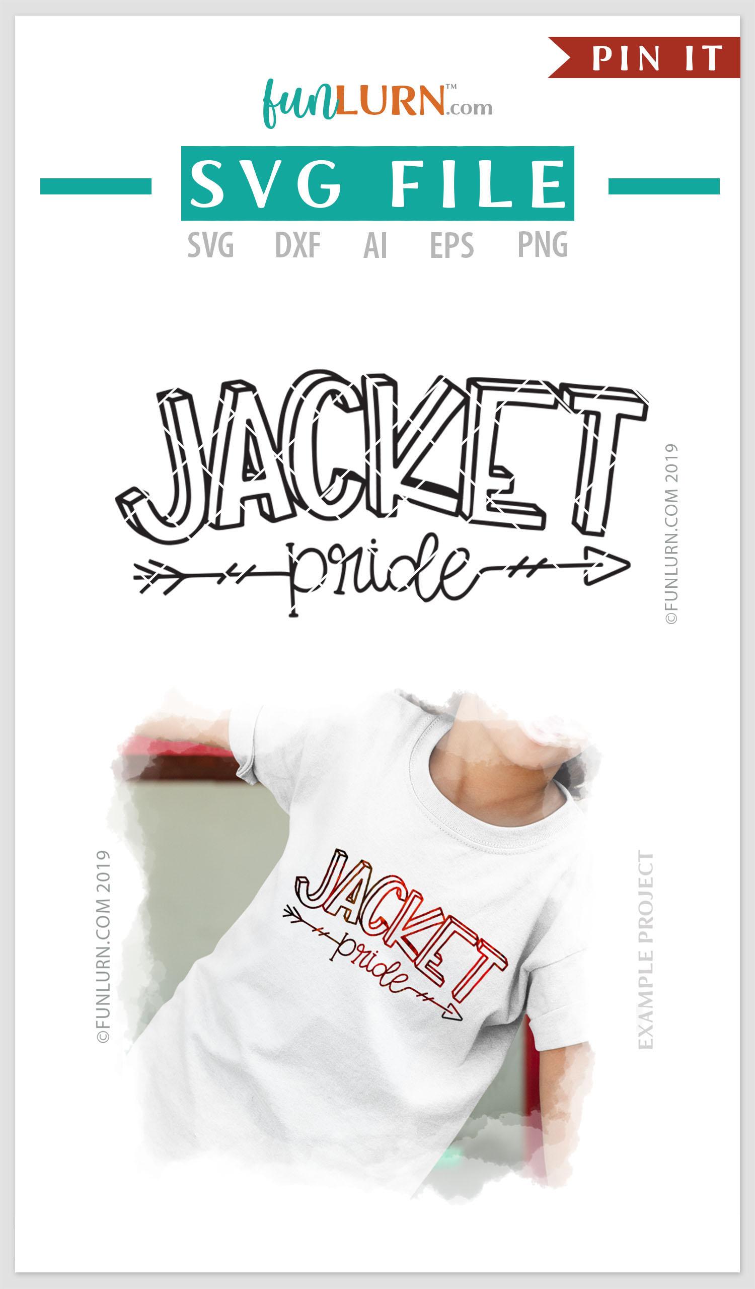 Jacket Pride Team SVG Cut File example image 4