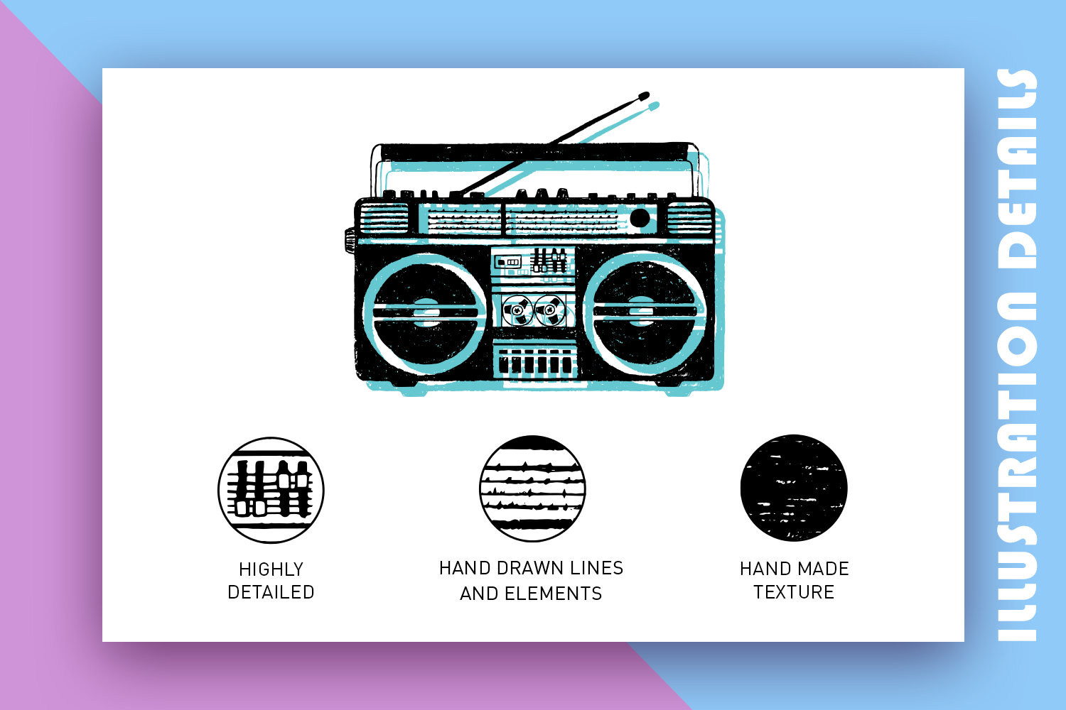 Back to the 90's. Hand Drawn Icons example image 3