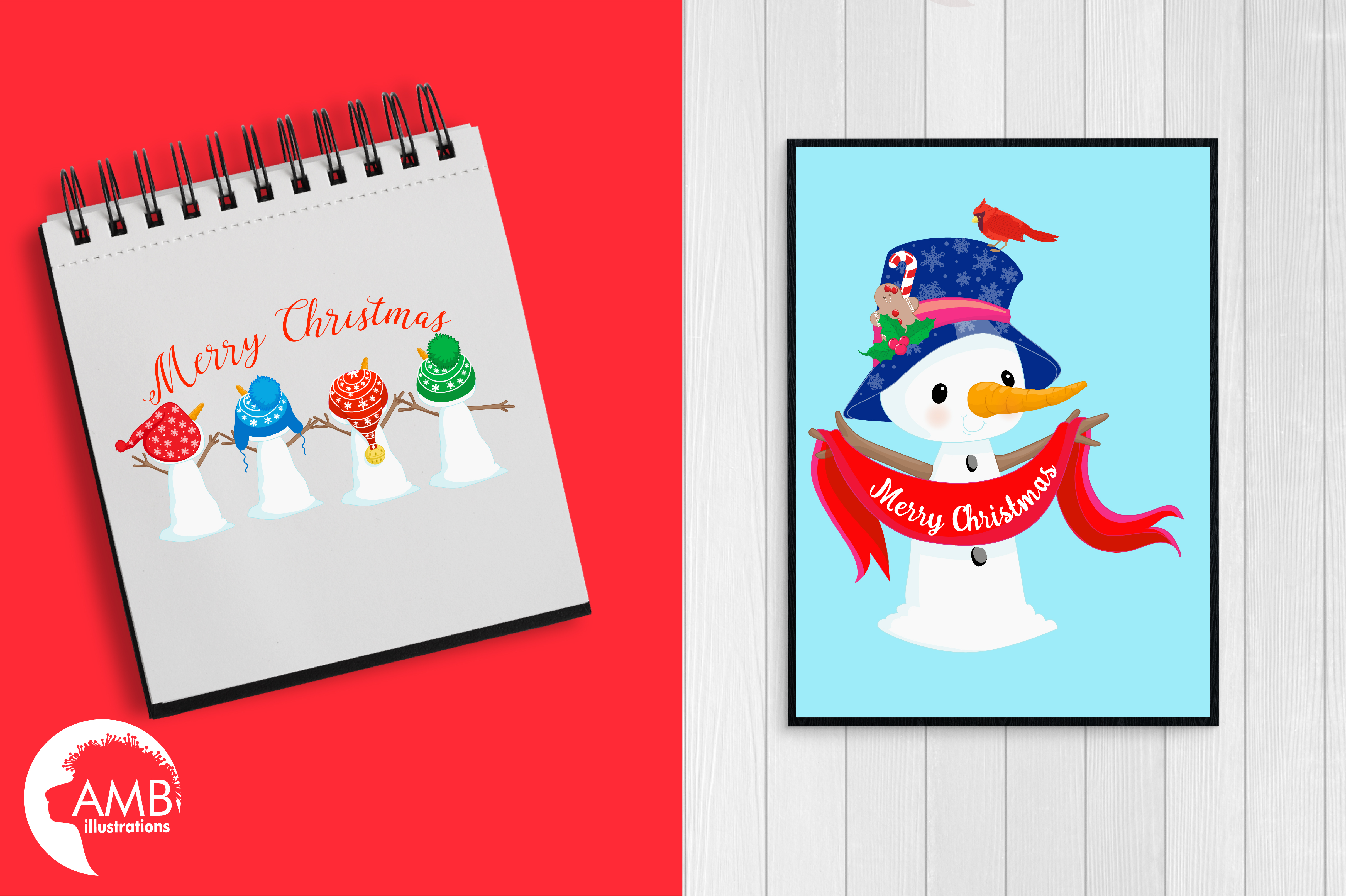 Snowman Clipart, Christmas Clipart, Frosty the Snowmen Clipart, Snowman Family, Snowman Clipart, AMB-1512clipart, graphics, illustrations AMB-1512 example image 4