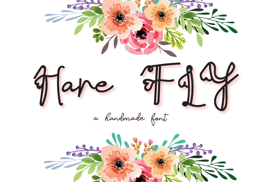 Hare Fly Font example image 1