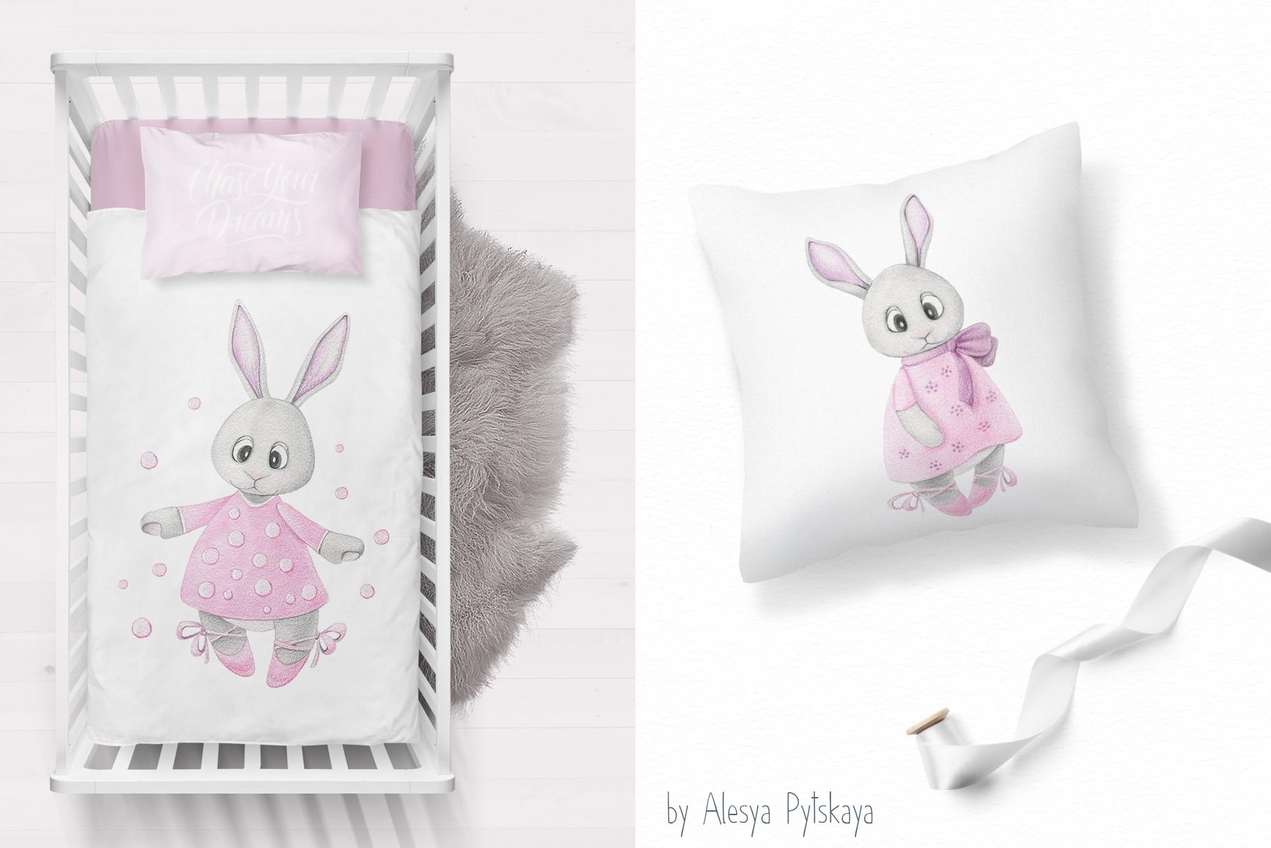 Cute bunny ballet dancer example image 3