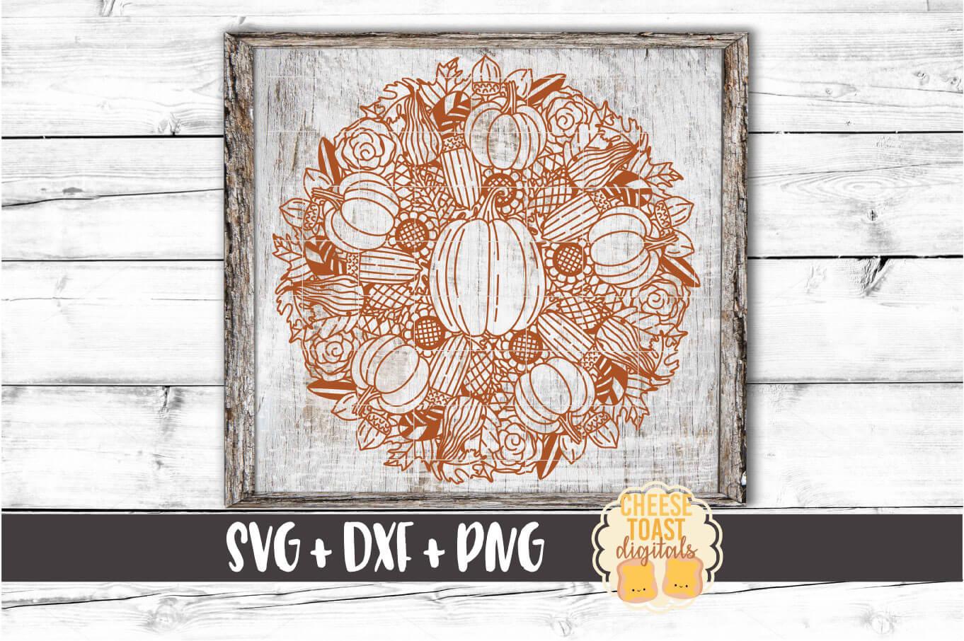 Pumpkin Mandala Bundle - Fall Split Mandala SVG PNG DXF File example image 6