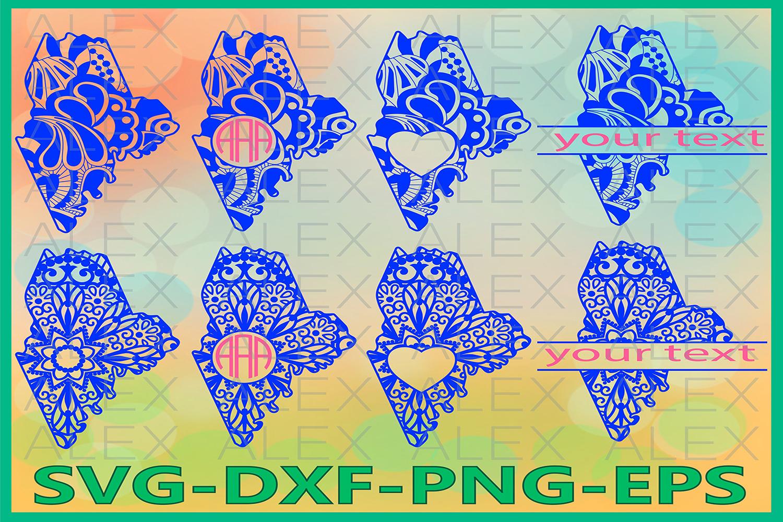 Maine State SVG, Maine Mandala SVG, Zentangle svg example image 1