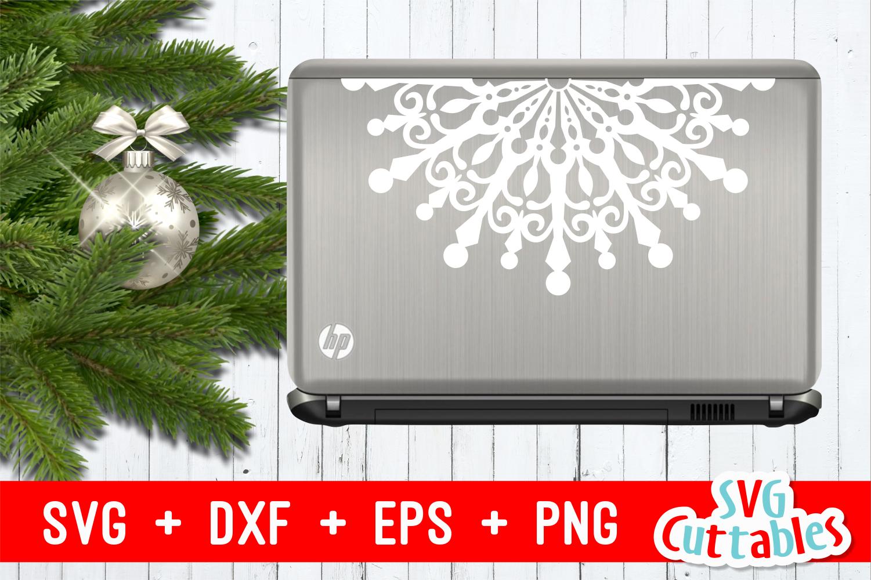 Snowflake Mandala | Christmas Cut File example image 3