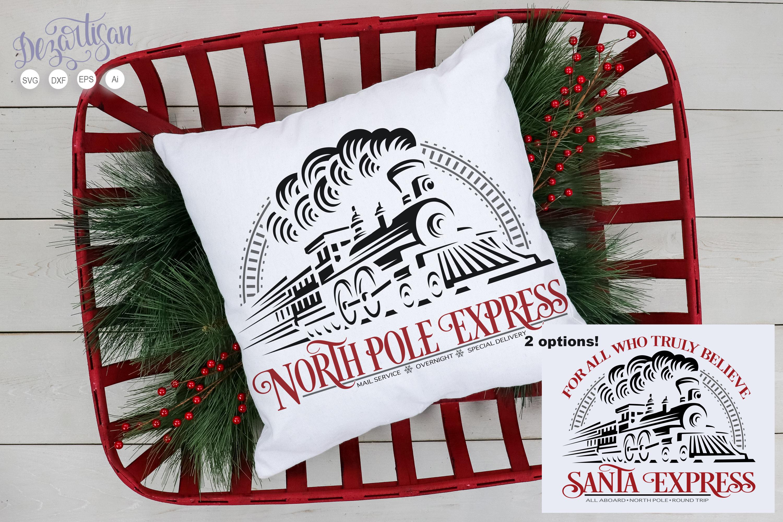 Santa Express North Pole Express Train SVG   DXF example image 1