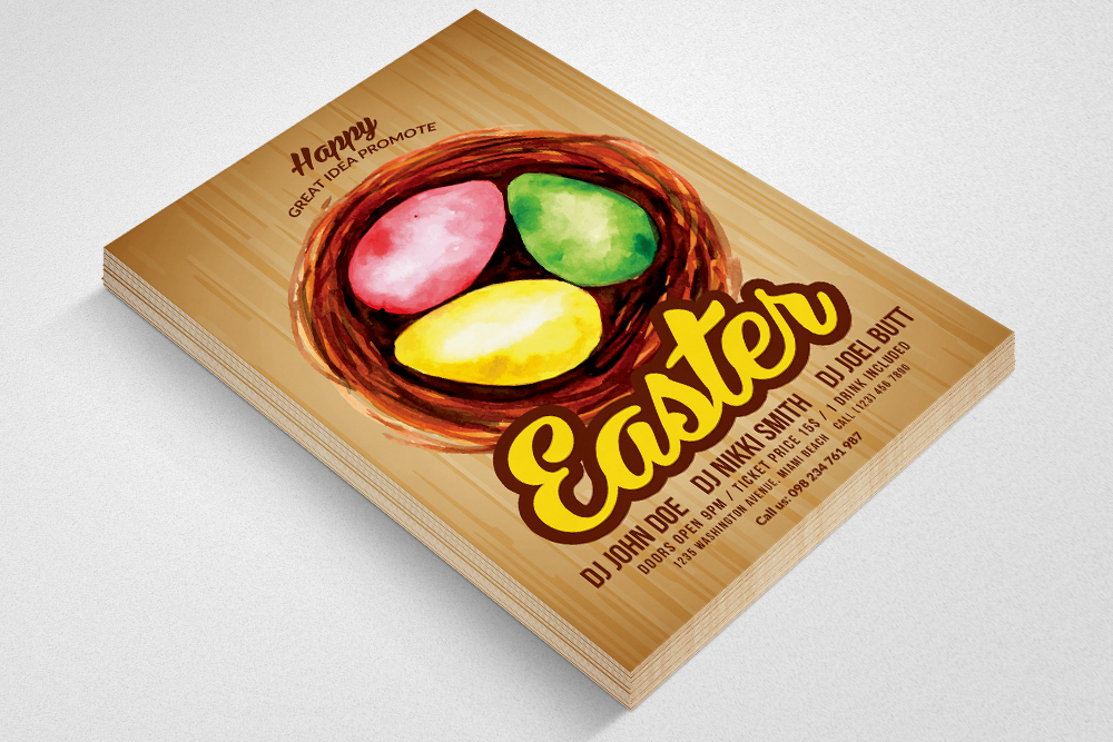 Spring and Easter Flyer Templates example image 3