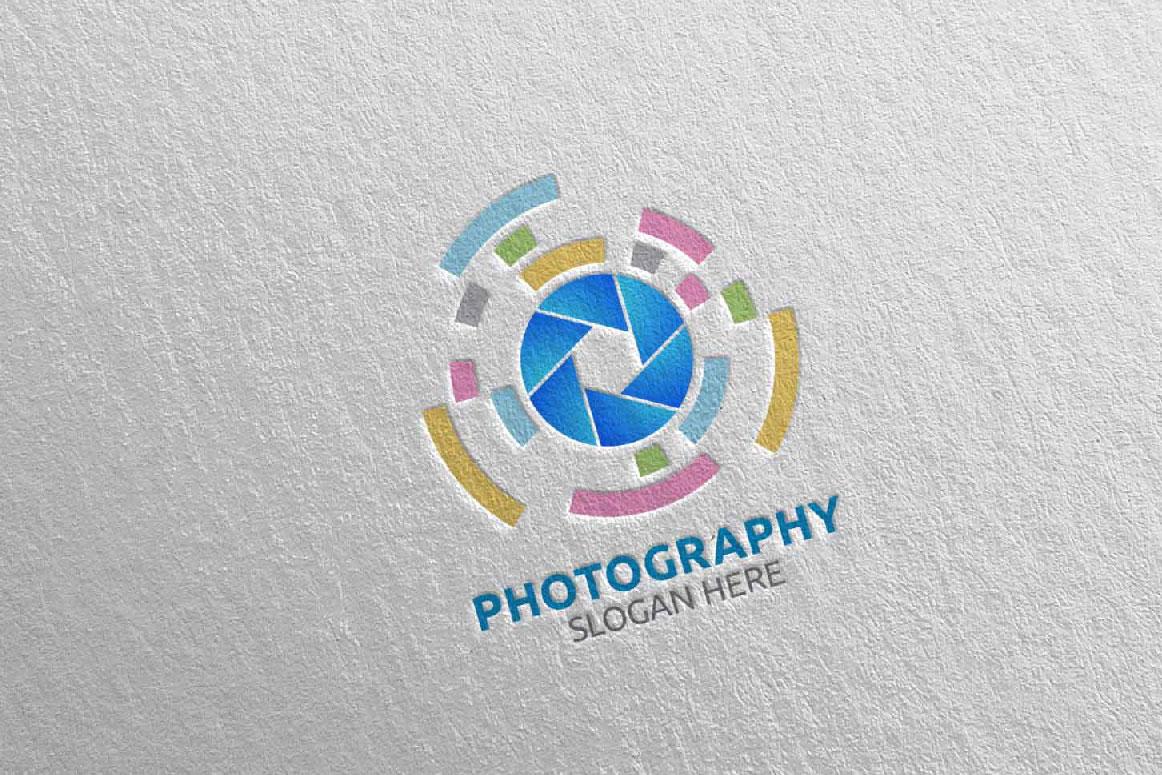 Abstract Camera Photography Logo 16 example image 3