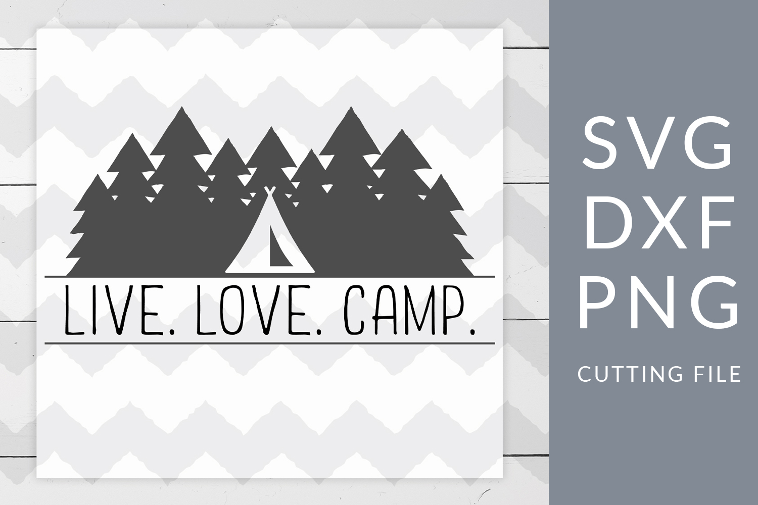 Live Love Camp Camping SVG, DXF, PNG, Cut File example image 1