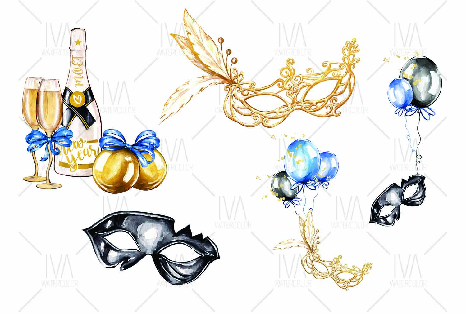 New Year's Eve Clipart example image 3