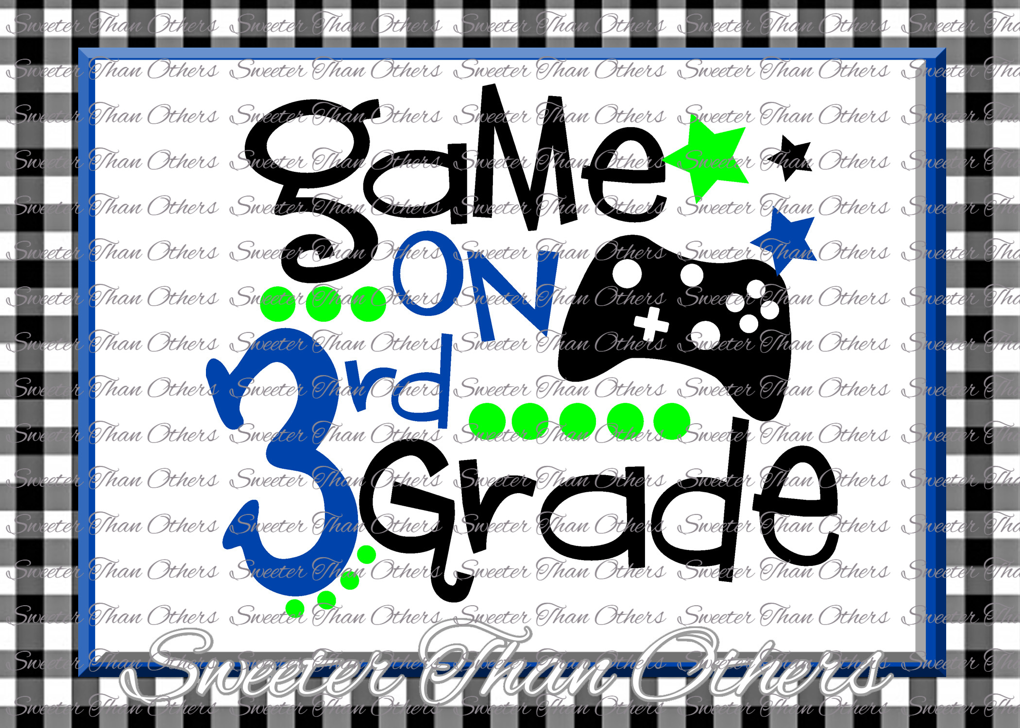 Third Grade SVG 3rd Grade Game On cut file example image 1