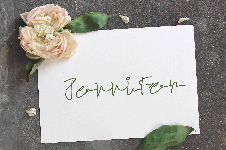 Mustaqeem - Handwritten Signature Font example image 4