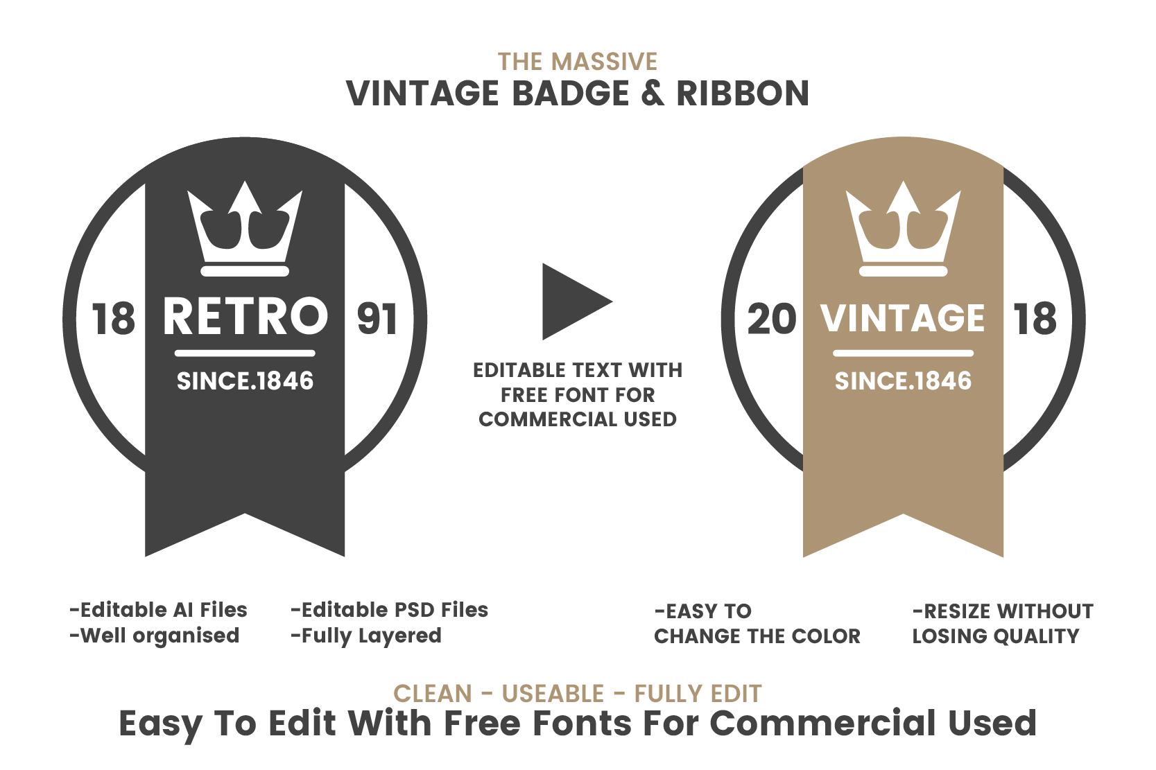 36 VINTAGE BADGE & RIBBON Vol.8 example image 3