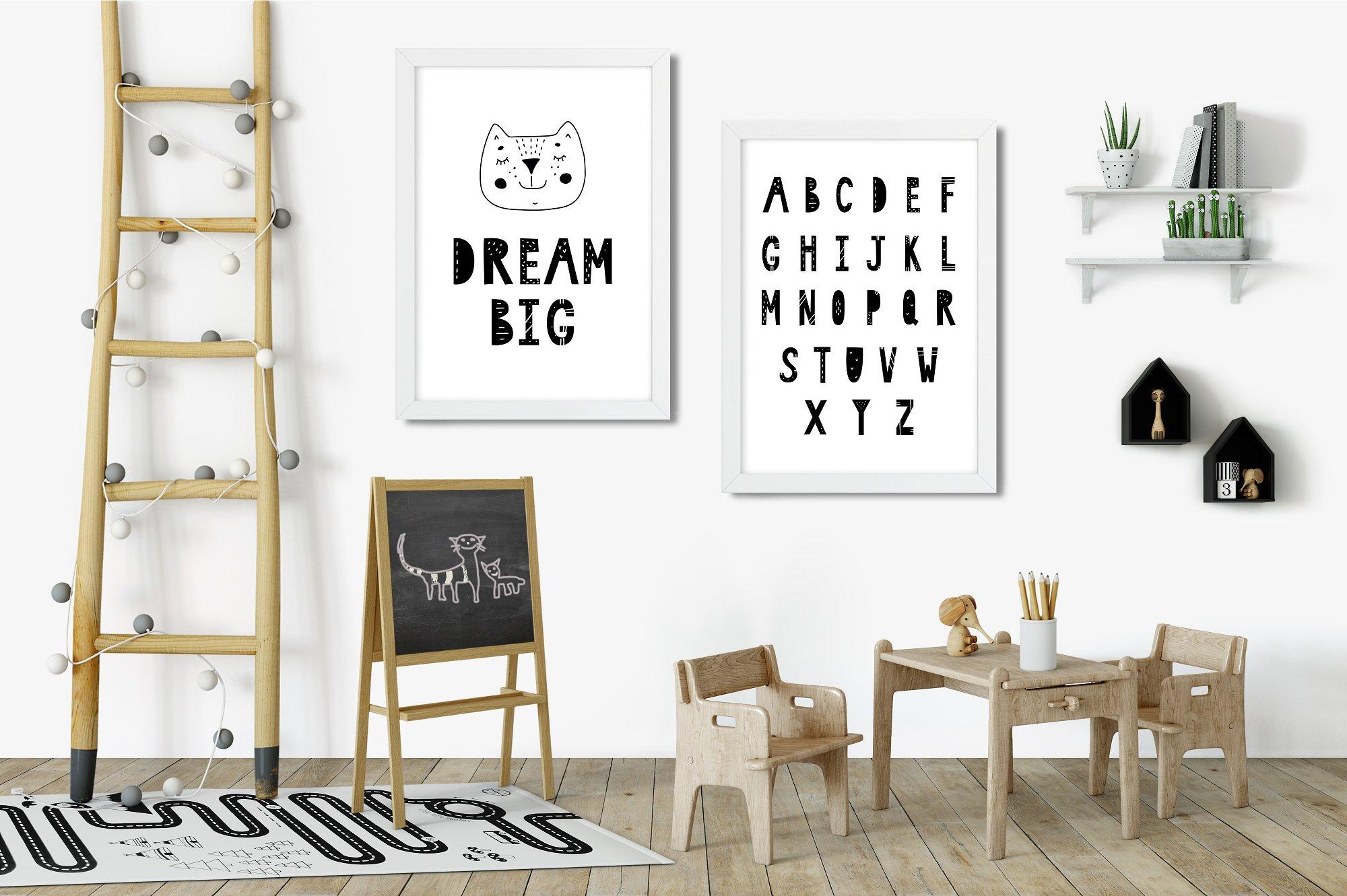 Scandinavian Monochrome for kids example image 14