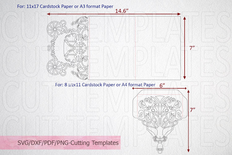 Princess Bride Trifold Wedding Invitation laser cut svg dxf example image 4