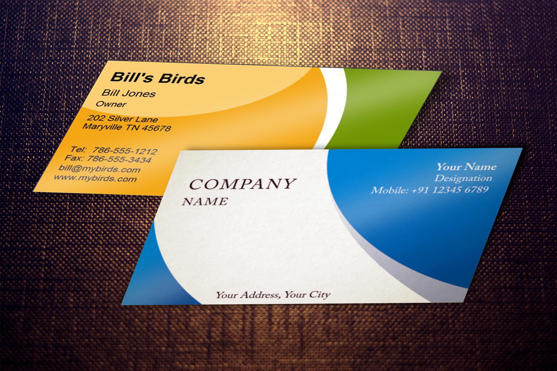 Photorealistic business card mockup set example image 9