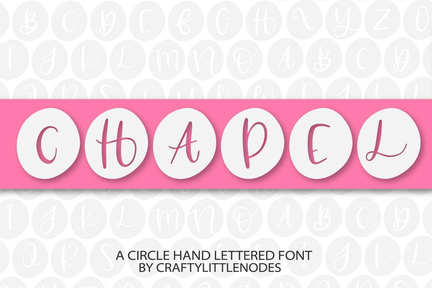 Chapel - A Circle Hand Lettered Font example image 1
