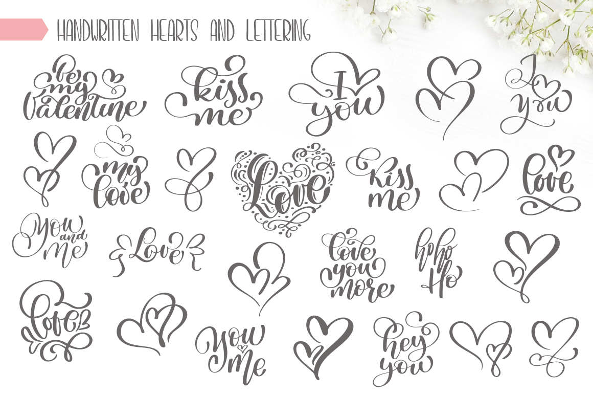 Valentines Hand Drawn Vector Collection example image 6