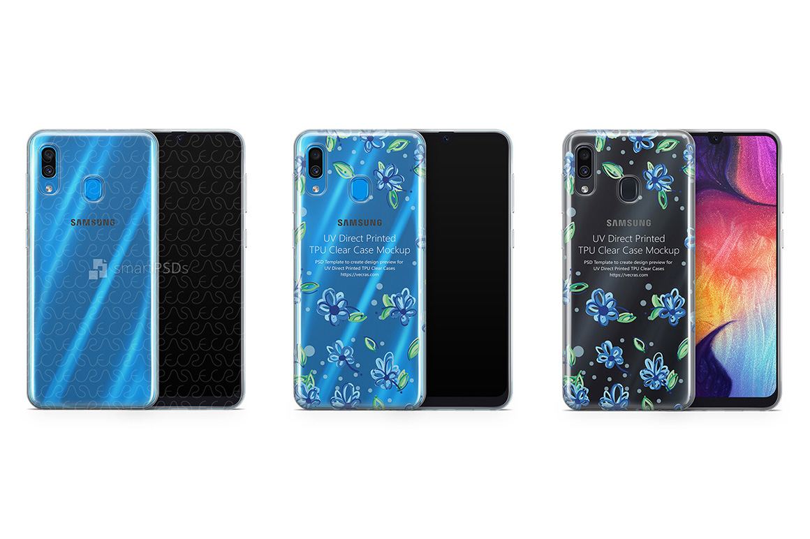 Samsung Galaxy A30 TPU Clear Case Mockup 2019 example image 1