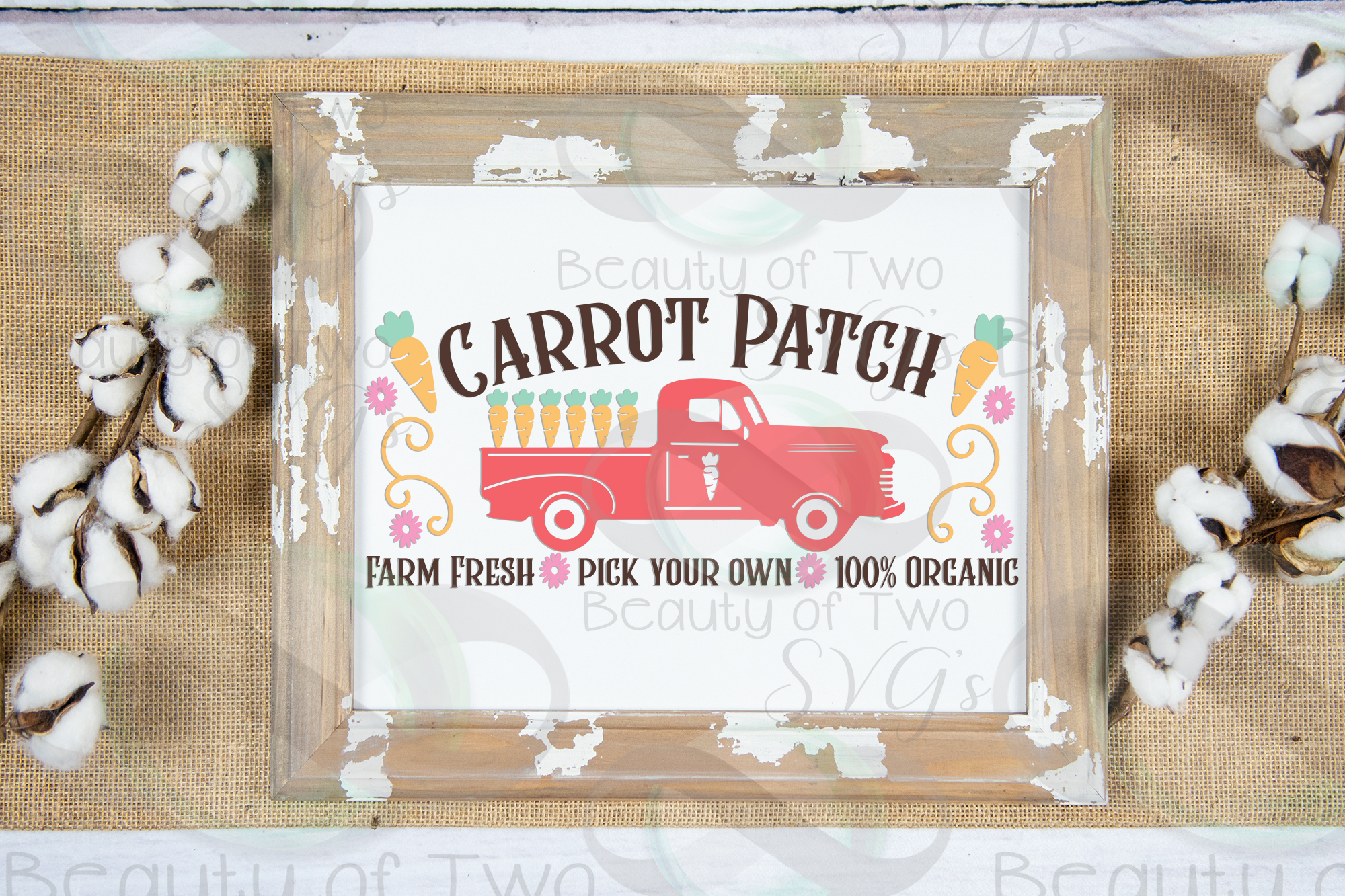 Easter Vintage Truck Carrot Patch svg, Vintage Truck svg, example image 2