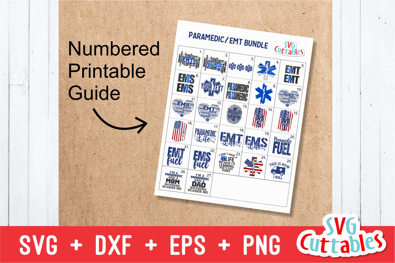 Paramedic / EMT Bundle 1 | SVG Cut File example image 2