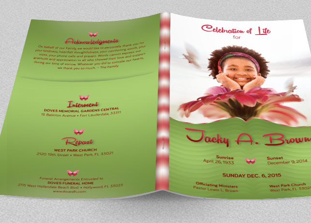 Child Funeral Program Template example image 2