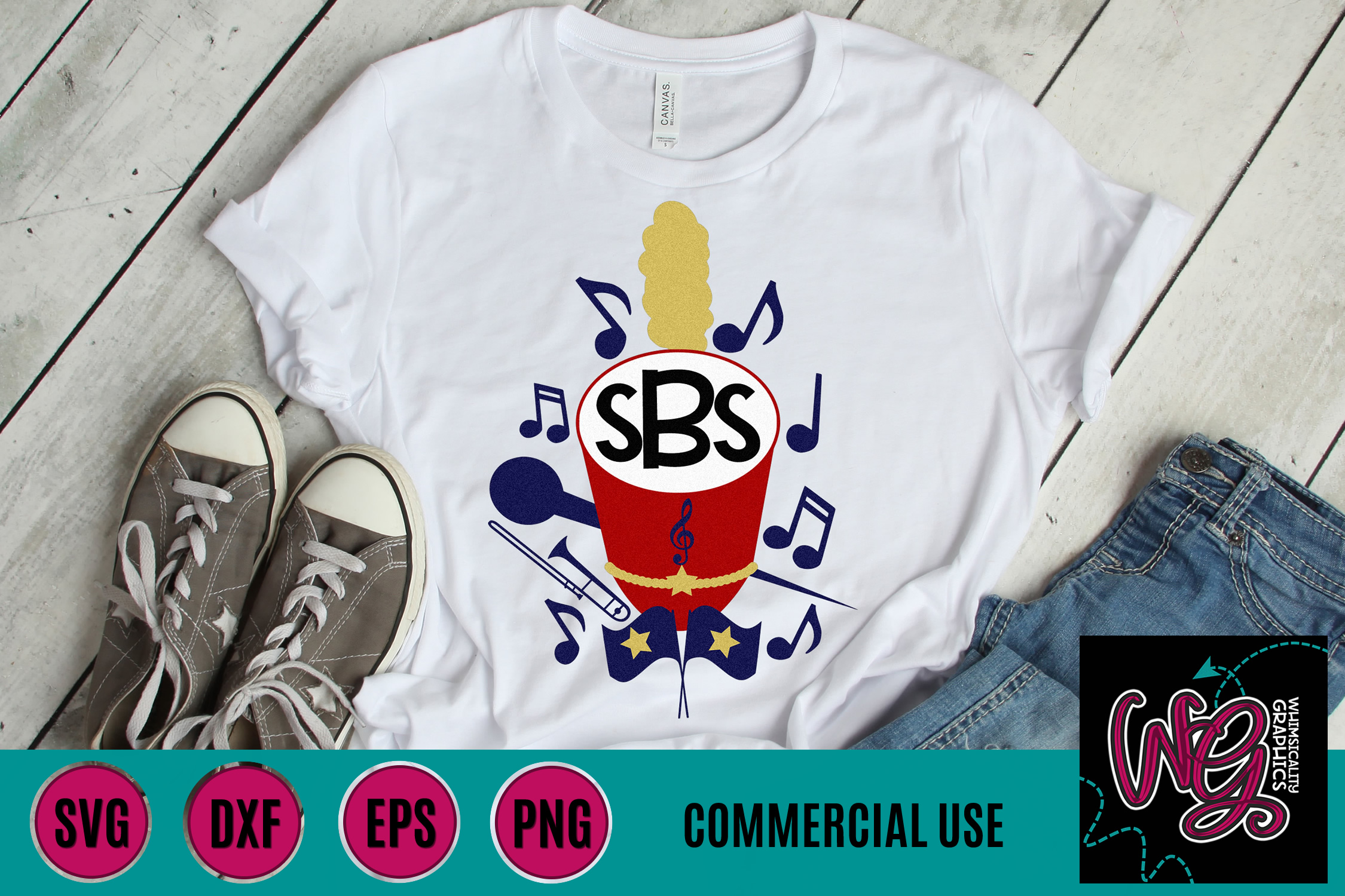f05be3ceeb511 Marching Band Monogram SVG, DXF, PNG, EPS Comm
