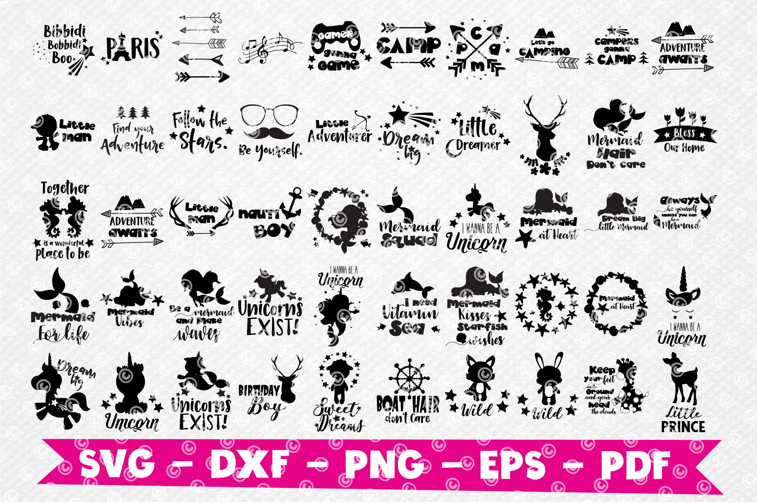 Craft MEGA BUNDLE, 150 in 1, cutting file svg, dxf, png, eps example image 3