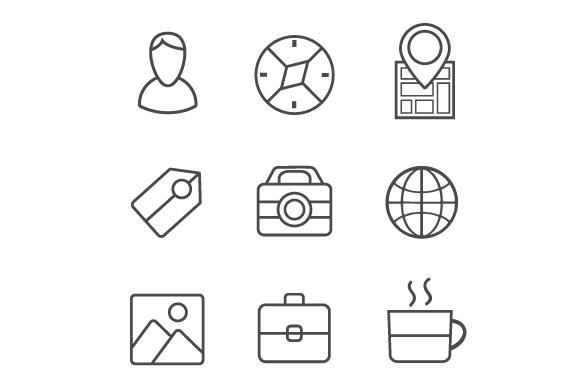 Set icons flat example image 3