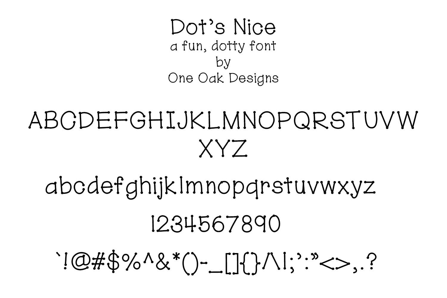 Dot's Nice - a fun, dotty font example image 2