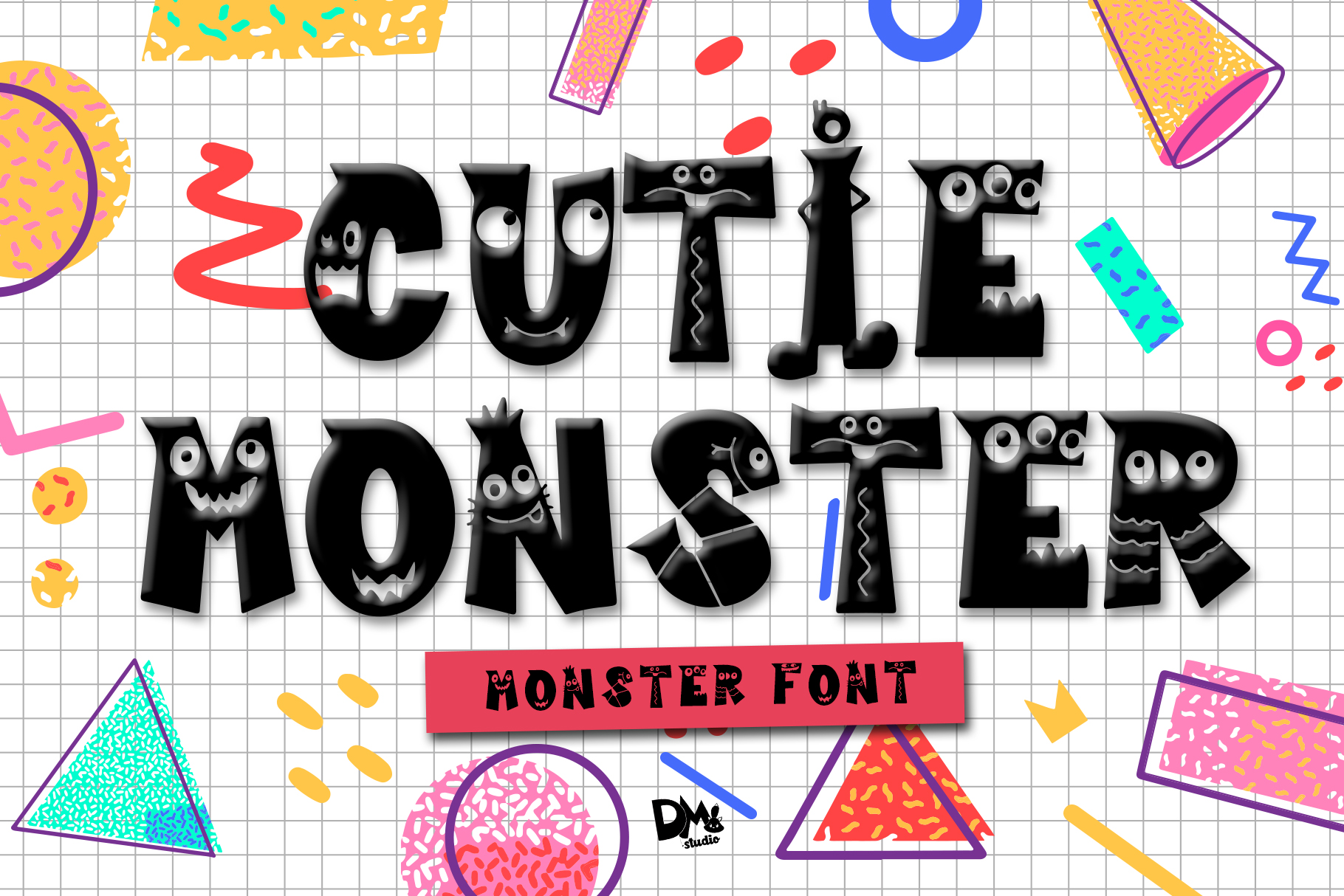 Cutie Monster - Monster Font example image 1