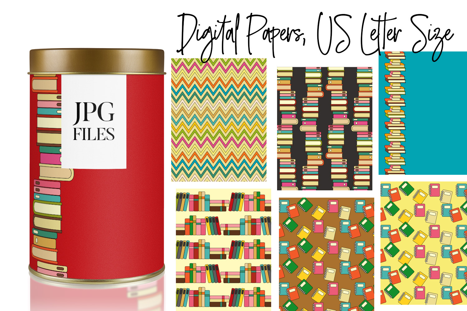 Digital Papers Bundle Vol. 2 - Background Patterns example image 23