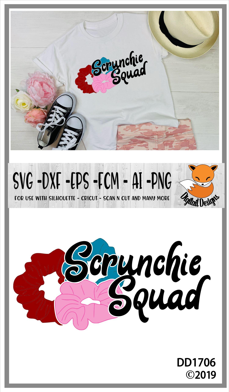 Scrunchie Squad Basic Girl SKSKSK And I Oop SVG example image 2