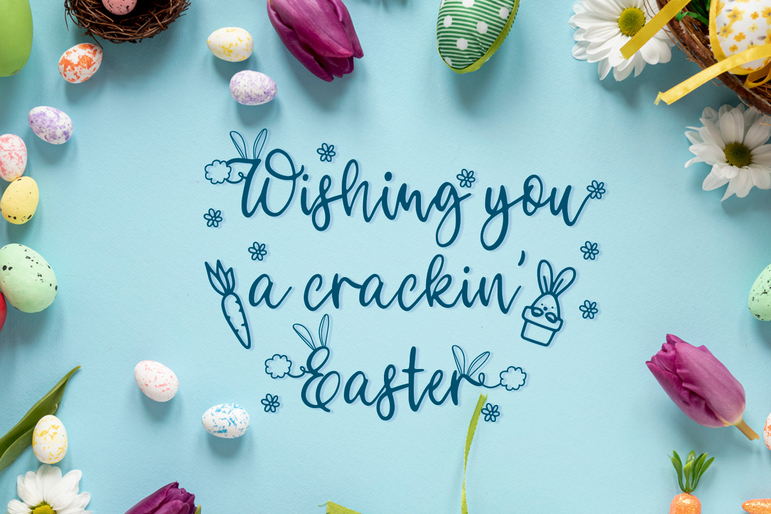 Bunny Tail - An Easter script font with doodles example image 5
