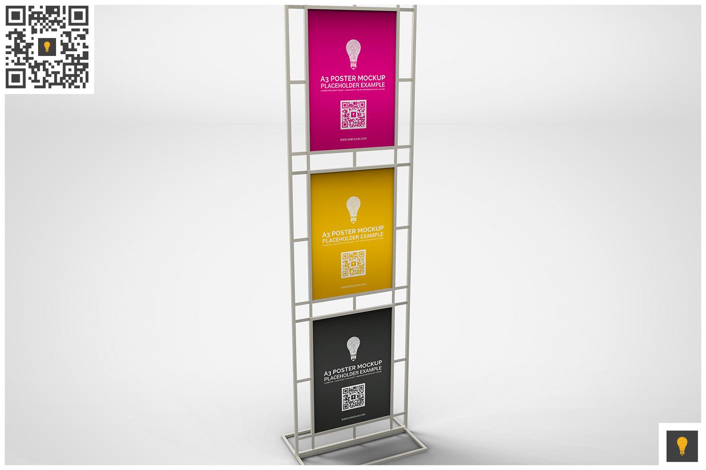 Poster Stand Display Mockup example image 5