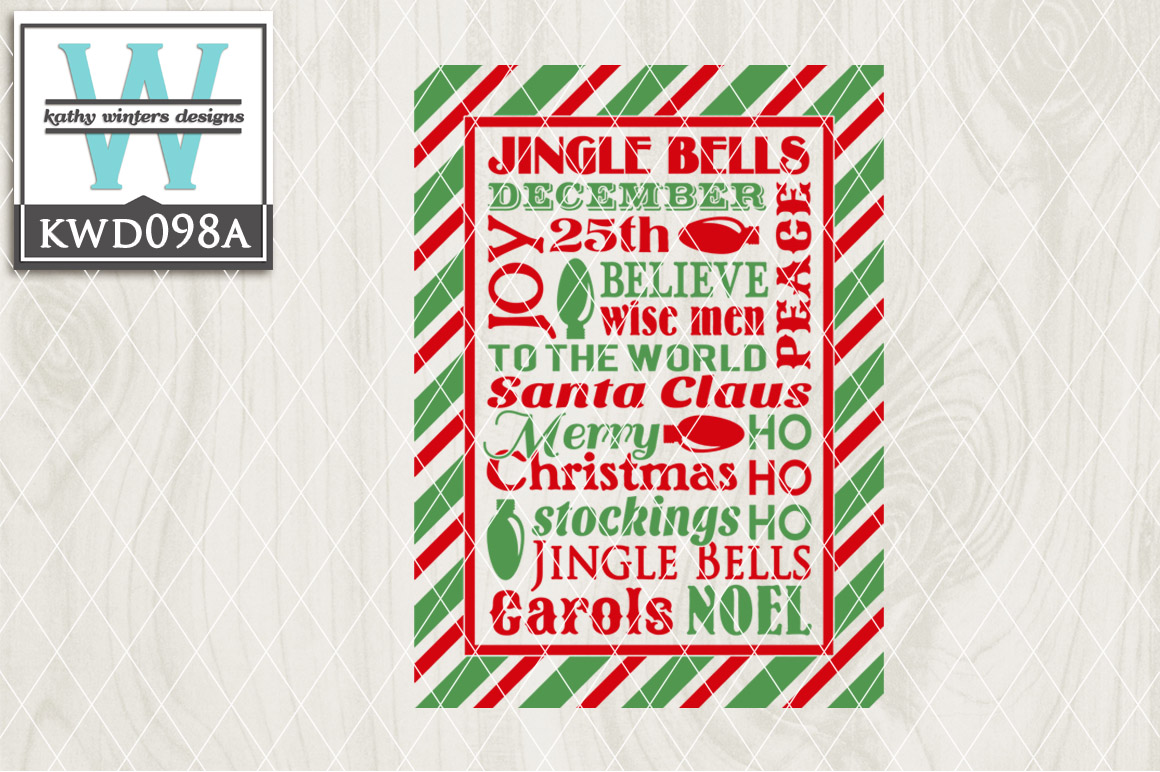 Christmas Cutting File KWD098A example image 1