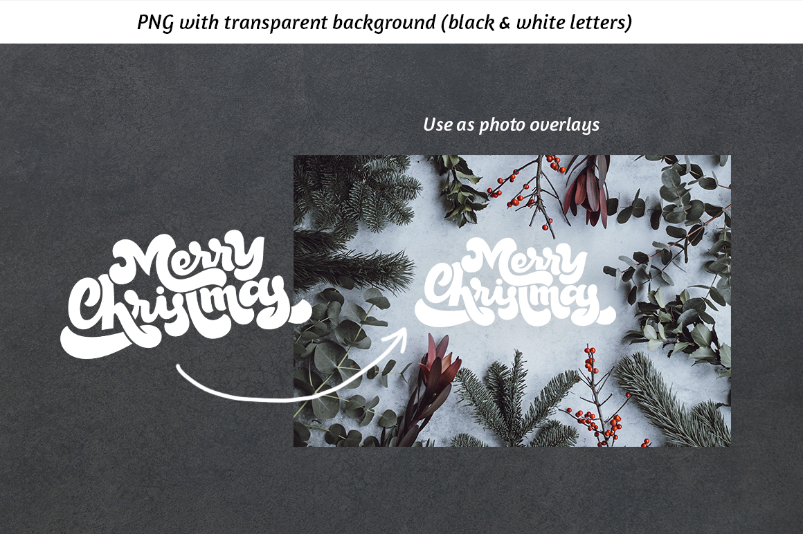 Christmas Lettering set example image 2