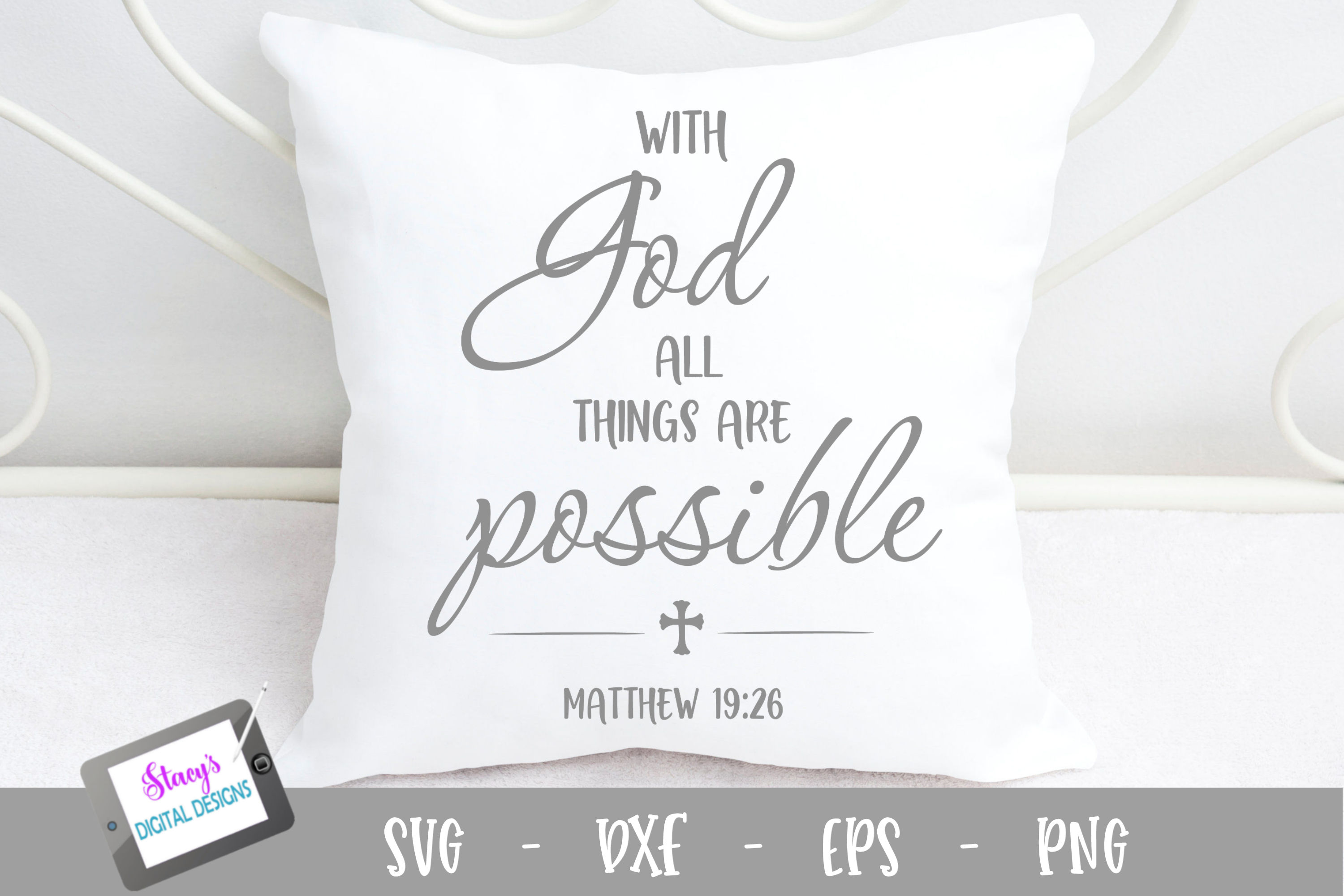 With God all things are possible SVG - Christian SVG example image 1